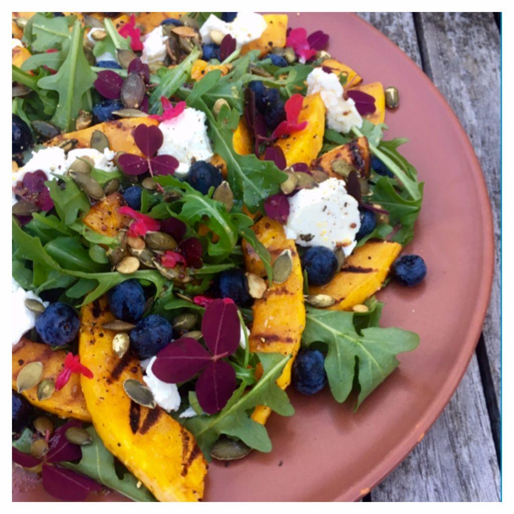 grillet græskar salat